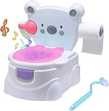 Kindertoilette Lernt/öpfchen mit Musik f/ür M/ädchen und Jungen Multiware Kinder S/ü/ßes Toilettentrainer mit Fu/ßbank
