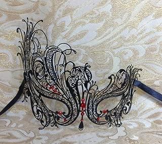 black swan venetian mask