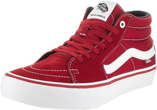 Vans 'sk8-mid PRO Sneakers (Scarlatto/Bianco) da Uomo Red Mid ...