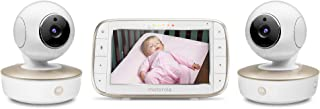 Motorola Video Baby Monitor - 2 Wide Angle HD Cameras with Infrared Night Vision and Remote Pan, Tilt, Zoom - 5-Inch LCD C...