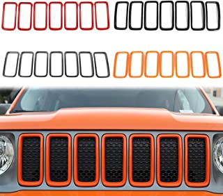 OBDATOR ABS 3PC 10 grilles Double FGrill Insert Clips Trim Compatible avec 13-16 5 Series 520i 523i 528i 535i 535i xDrive 550i xDrive Autocollant de couvercle de grill F10 // 11//18 550i