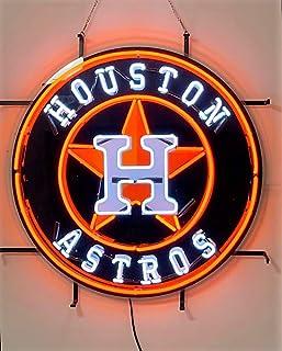 "Desung 24""x24"" Houston Sports Team Astro 2017 World Series Champions Neon Sign Light Lamp HD Vivid Printing Tech Beer Pub ..."