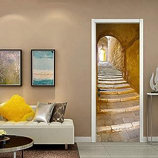 LOVEJJ Stickers de Porte 3D Les escaliers Déco Murale Qualité HD PVC Douche Bureau Salon Décoration Couloir Peinture Mural...