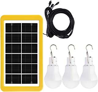 Solar Light Bulb Solar Lamp Portable LED Light Solar Panel Powered Rechargeable Lights with Sensor for Home Shed Barn Indoor Outdoor Emergency Hiking Tent Reading Camping Night Work Light(3 Pack)