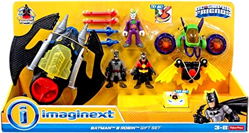 Fisher-Price - Batman & Robin & Joker Gift Set - incl. Batwing & Glider & Jet Pack