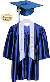 Child Graduation Cap, Gown, Tassel, Sash, Ring and Certificate