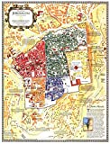 jjshily Alte Karte von Jerusalem City Poster Leinwand