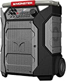 Monster Rockin' Roller 270 Portable Indoor/Outdoor Wireless Speaker, 200 Watts, Up to 100 Hours Playtime, IPX4 Water Resistant, Qi Charger, Connect to Another TWS Speaker (Slate)