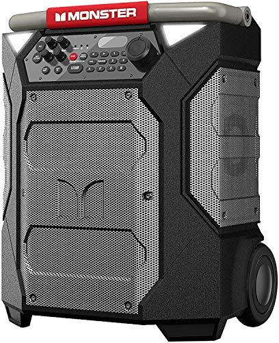 Monster Rockin' Roller 270 Portable Indoor/Outdoor Wireless Speaker, 200 Watts, Up to 100 Hours...