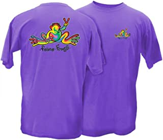 Peace Frogs Retro Frog Adult Short Sleeve T-Shirt