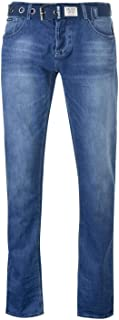 Firetrap Jeans Denim Blackseal XL Kamito Mens Trouser Pants Mid Wash