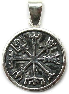 Ciondolo in argento 925 simbolo di viking Vegvisir PE001400 Empress