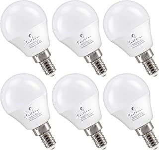 Sailstar E12 LED Bulb 6-Watt (60-Watt Replacement), Soft White 2700K, Non-Dimmable, G14 Candelabra Base LED Light Bulb | 6-Pack