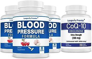 [Cardio Health Value Pack] Longevity Blood Pressure Formula 90 caps x 3 Bottles with 1 Free Bottle of CoQ10 [30 caps]