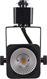 Cloudy Bay 8W Dimmable LED Track Lights Head,CRI 90+ Daylight 5000K,Adjustable Tilt Angle Track Lighting Fixture,120V 40° Angle for Accent Retail,Black Finish,Halo Type