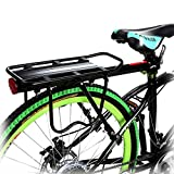 Bike Rack – Bicycle Touring Carrier with Fender Board, Frame-Mounted for Heavier Top & Side Loads
