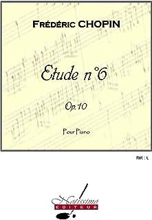 Chopin Etude No.6 Op.10 Piano Technical Studies Book Piano