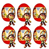 Disney Jake and The Neverland Pirates Party Favors 6 Pack -- Jake and The Neverland Pirates Surprise Eggs with Pirate Toy Figures Inside (Pirate Party Supplies)
