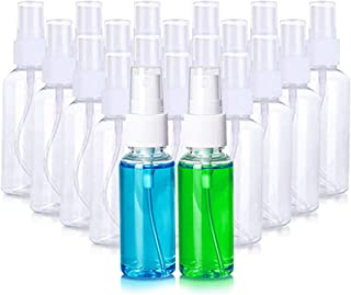 20 Pack 3.4oz Small Plastic Clear Spray Bottles, Portable Reusable Empty Fine Mist Sprayer Bottles Liquid Containers with Clear Caps for Makeup Cosmetic Atomizers Travel, Perfumes, Essential