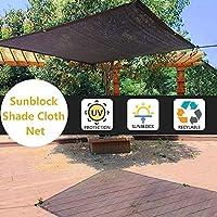 日よけネット黒日焼け止め布ロープ紫外線保護バルコニーパーゴラ換気と換気(サイズ:1000センチ×2000センチ)