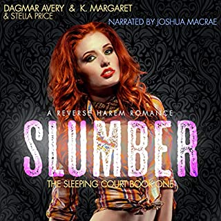 Slumber     The Sleeping Court, Book 1              Written by:                                                                                                                                 Dagmar Avery,                                                                                        K. Margaret,                                                                                        Stella Price                               Narrated by:                                                                                                                                 Joshua Macrae                      Length: 4 hrs and 44 mins     Not rated yet     Overall 0.0
