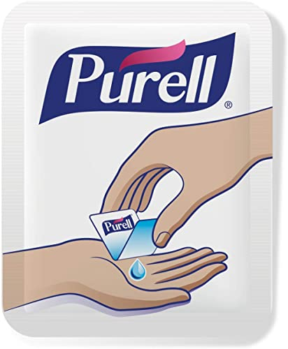 PURELL Singles Advanced Hand Sanitizer Gel, Fragrance Free, 500 Single-Use Travel Size Packets - 9630-5C