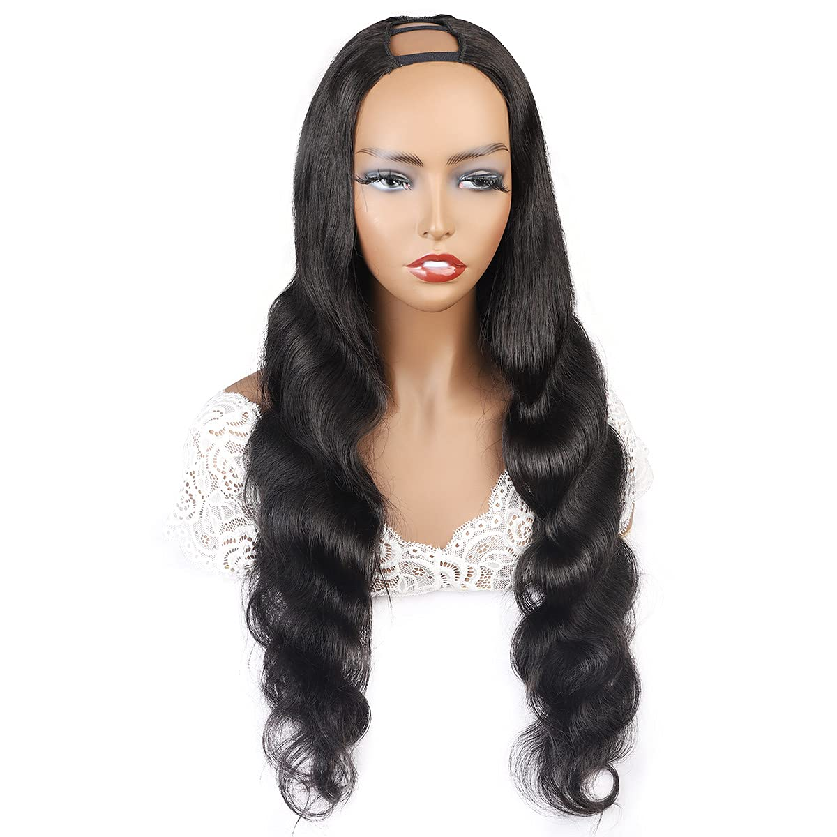 Black silky straight U New Free Shipping part wig sty remy human Albuquerque Mall hair fashion star