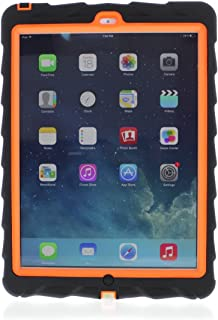Gumdrop Cases Droptech for Apple iPad Air Rugged Tablet Case Shock Absorbing Cover Black/Orange A1474, A1475, A1476