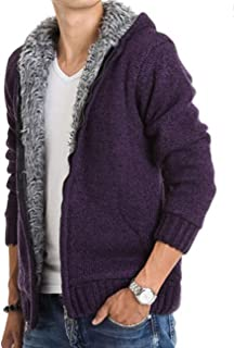 Zhhlaixing Casual Sweater Jacket Hooded Cardigan Men Outerwear - Thick Stylish Knitted Sweater Cardigans Coat