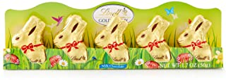 Lindt Mini Gold Bunny, Milk Chocolate, 1.7 Ounce, 5 Count