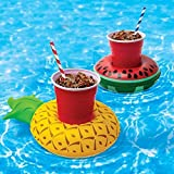 Inflatable Pool Drink Holder - Fruit Style Cup Holder Float 3 Pineapple