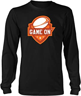Game On-Youth Men Women Rugby Funny Gift Ideas Us UK Kid Gi Long Sleeve T-Shirt