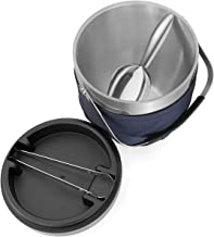 Fortune Candy Insulated Ice Bucket - Exclusive Lid with Improved Structure, Stainless Steel Ice Bucket with Ice Tongs, Sco...