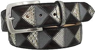 ESPERANTO Cintura pitone, coccodrillo e pelle,fodera vero cuoio nabuc -4 cm unisex