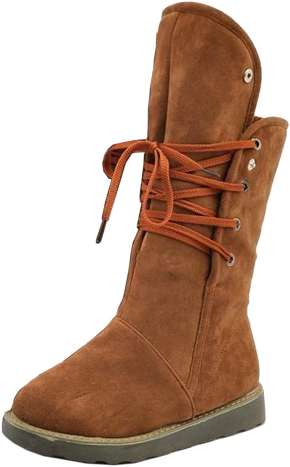 TAOFFEN Women's Boots Lace Up Warm Lining