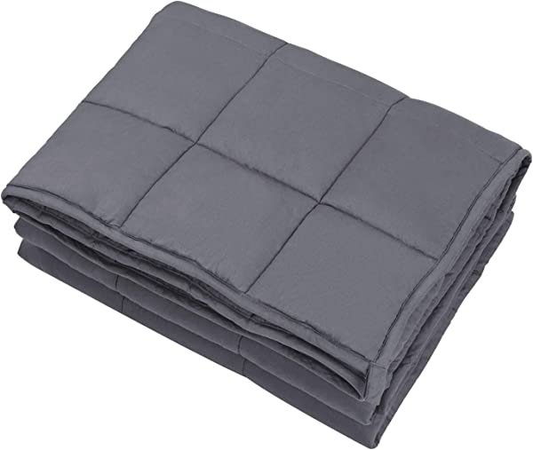 Joybest Weighted Blanket 10 Lbs For Kids About 90 120 Lbs 41 X60 Natural Cotton Material Premium Glass Beads Grey