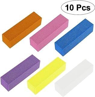 ROSENICE 爪バッファーバフ研磨パッドブロックファイルマニキュアペディキュアケアツール10個(ランダムカラー)