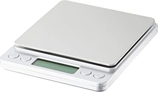 Kingwin Smart Digital Scale In Silver Color, Accurate & Quick Reading, 60 Seconds Auto Shut-Off, with 2 Clear Bowls, Black...