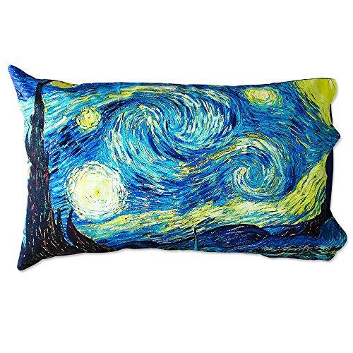 Coppia Federe Per Guanciale La Notte Stellata Van Gogh I Love Sleeping Stampa Digitale 3D Cotone GIOSAL