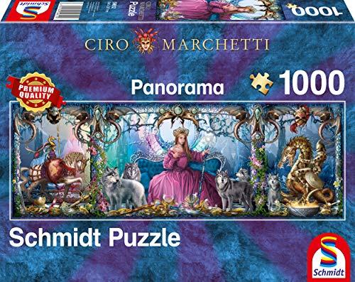 Schmidt Spiele Puzzle 59612 Ciro Marchetti, Eispalast, 1000 Teile Panorama - Puzzle, bunt