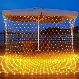 Airsnigi 200 LED Lichternetz 3x2m LED Lichterkette Außen Warmweiß mit Stecker, 8 Modi Lichterkettenvorhang IP44 Wasserdicht Lichtketten, Lichternetz Innen Außen Deko für Garten, Hochzeit Party