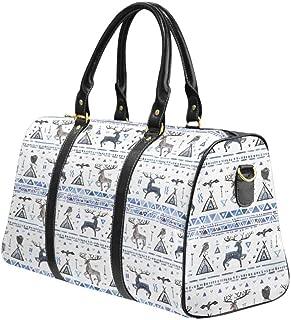 Carry on bag Travel Duffel Tote Unisex Weekender Bag Native Tribal Arrows Deer Skull Antler