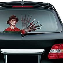 MIYSNEIRN Halloween Scary Freddy Waving Wiper Decal for Rear Window 3D Cartoon Festive Car Sticker Reusable Waterproof Vinyl Decal for Vehicle Rear Wipers Decoration (6)