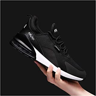 KKEPO& 2019 New Summer Men's Casual Shoes Breathable Chaussure Homme Light Mens Sneakers Big Size Tenis Masculino Trainers Black 6.5