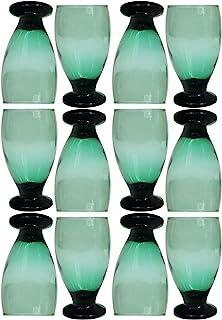 Set of 12 Glass Water Goblets (Cobalt)