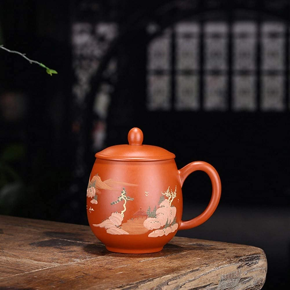 Teapot Japanese, Max 68% OFF Purple Clay New product Tea Lands Cup Hand-Painted Famous