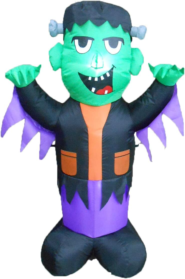 4 Foot All stores are sold Seattle Mall Tall Halloween LED Inflatable Yard Ou Frankenstein Blowup