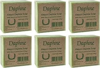 Aleppo Soap Bar - Handmade - 100% Pure Natural, Vegan with Olive Oil & Laurel, Shampoo Bar, 5.6 oz Each Bar (6 Bars)