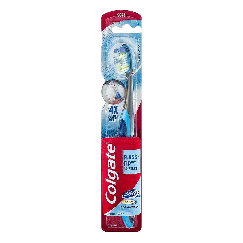 アスペクトガイドライン熱意Colgate 360合計先進FLOSS-ヒント歯ブラシ、完全な頭部ソフト1 Eaは 1パック