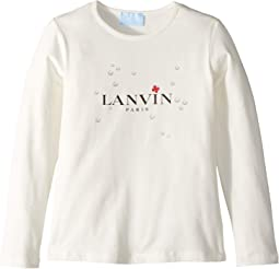 Long Sleeve Logo T-Shirt with Printed Bubbles (Little Kids/Big Kids)
